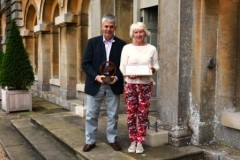 Receiving the award at  Grimsthorpe Castle